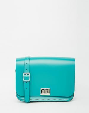 Leather Satchel Company Сумка Pixie. Цвет: бирюзовый