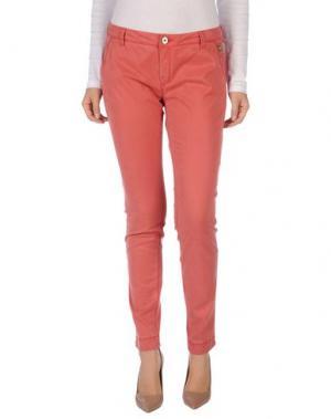 Повседневные брюки TELERIA ZED. Цвет: коралловый