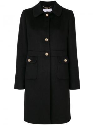 Пальто с крупными пуговицами Blugirl. Цвет: чёрный