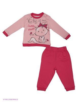 Пижама EWIVA. Цвет: бледно-розовый, фуксия