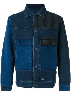 Джинсовая куртка с карманами Bleu De Paname. Цвет: синий