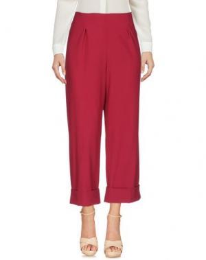 Повседневные брюки MAISON LAVINIATURRA. Цвет: баклажанный