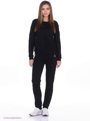 Спортивный костюм EZE. Цвет: черный
