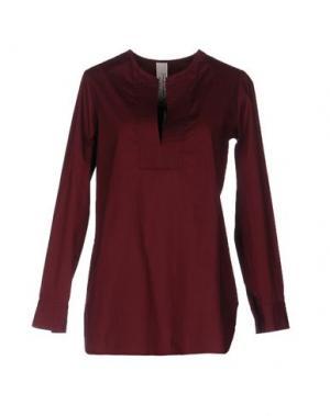 Блузка DANIELA PANCHERI. Цвет: красно-коричневый