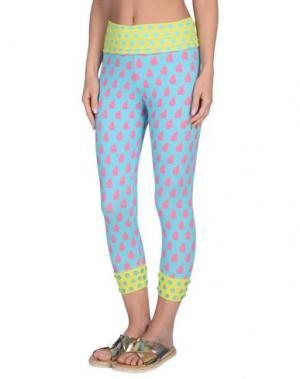 Пляжные брюки и шорты VDP BEACH. Цвет: бирюзовый