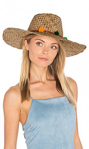 Фермерская шляпа с широкими полями и помпоном Pitusa. Цвет: цвет загара