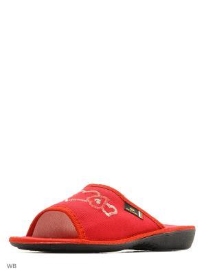 Тапочки Spesita. Цвет: красный
