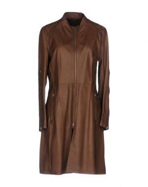 Легкое пальто COMPAGNIA DELLE PELLI. Цвет: хаки