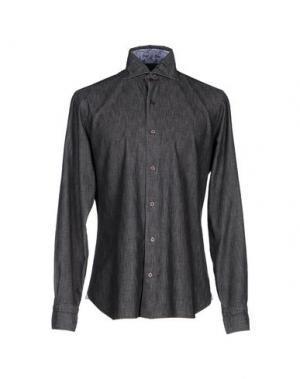 Джинсовая рубашка DANDYLIFE by BARBA. Цвет: черный