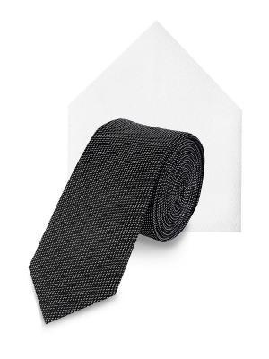 Набор: галстук и платок S.OLIVER. Цвет: черный