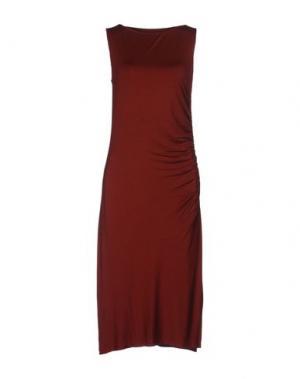 Платье до колена THREE DOTS. Цвет: ржаво-коричневый