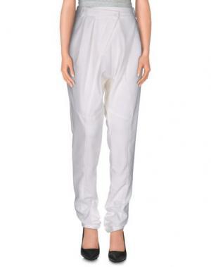 Повседневные брюки MARIAGRAZIA PANIZZI. Цвет: белый