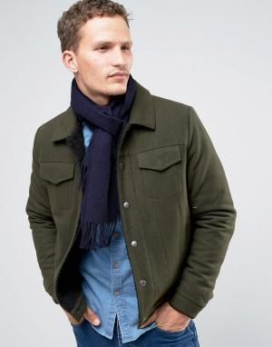 Glen Lossie Темно-синий кашемировый шарф. Цвет: темно-синий