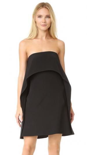 Коктейльное платье Halter KAUFMANFRANCO. Цвет: оникс