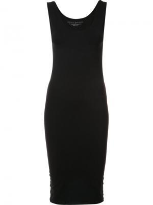 Fitted round neck dress Organic By John Patrick. Цвет: чёрный