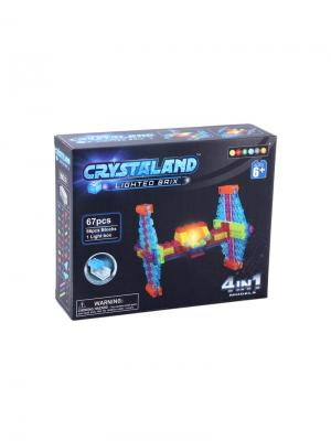 Светящийся конструктор Crystaland Истребитель 4в1 67 деталей Neocube. Цвет: фиолетовый