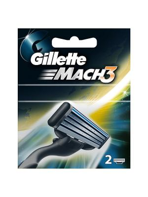 Сменные кассеты Mach3 , 2 шт GILLETTE. Цвет: черный