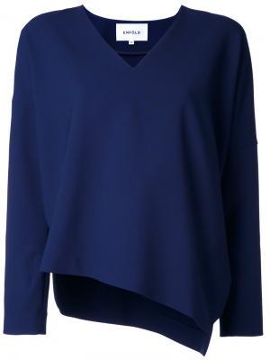 Блузка с V-образным вырезом Enföld. Цвет: синий