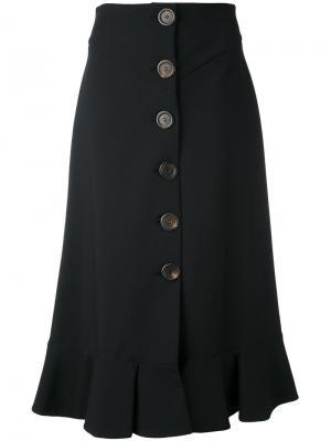 Плиссированная юбка A.W.A.K.E.. Цвет: чёрный