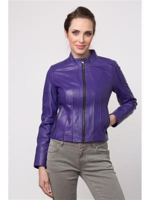 Кожаная куртка MONDIAL. Цвет: фиолетовый