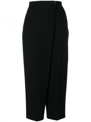 Укороченные брюки с запахом Enföld. Цвет: чёрный