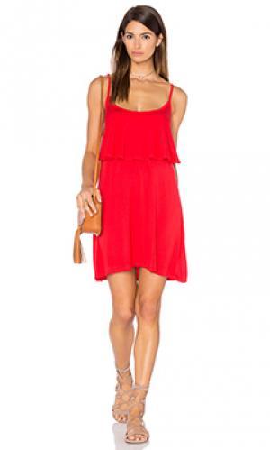 Мини платье marlow fiesta Michael Lauren. Цвет: красный
