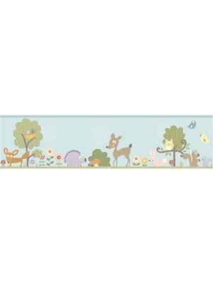 Наклейки для декора - Лесные жители орнамент ROOMMATES. Цвет: белый, голубой, желтый, зеленый, красный, оранжевый, серый, синий, черный