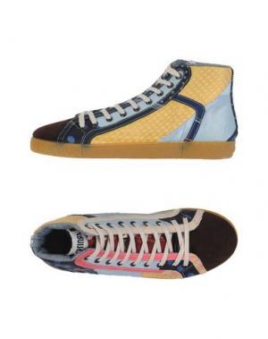 Высокие кеды и кроссовки SPRINGA. Цвет: темно-коричневый