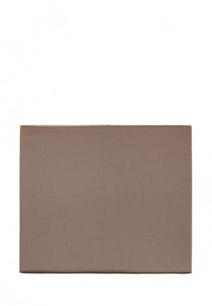 Простыня Luxberry. Цвет: коричневый
