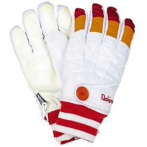 Перчатки сноубордические женские  Falcon Glove White Dakine. Цвет: белый,оранжевый,красный