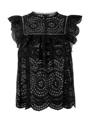 Кружевная блузка без рукавов Zimmermann. Цвет: чёрный