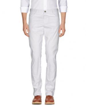 Повседневные брюки MAESTRAMI. Цвет: белый
