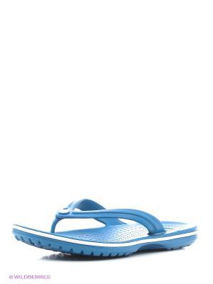Шлепанцы CROCS. Цвет: морская волна, синий