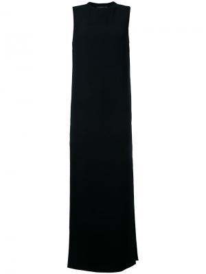 Прямое вечернее платье с круглым вырезом Alexandre Vauthier. Цвет: чёрный