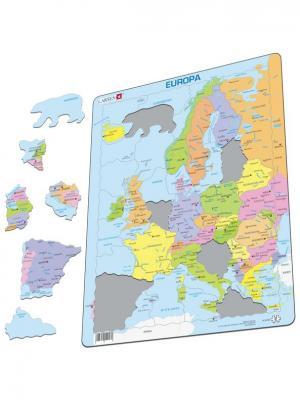 Пазл Европа LARSEN AS. Цвет: голубой, светло-желтый, сиреневый