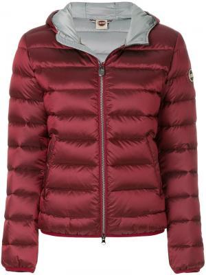 Дутая куртка с капюшоном Colmar. Цвет: красный