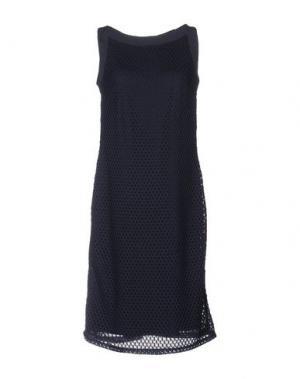 Платье до колена VERA MONT. Цвет: темно-синий