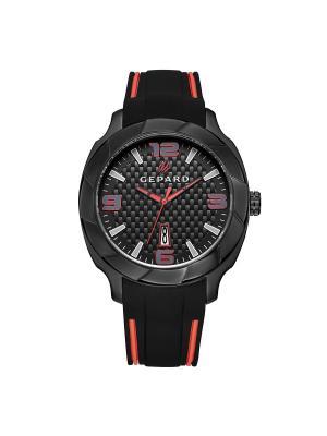 Часы GEPARD.. Цвет: черный,красный,белый