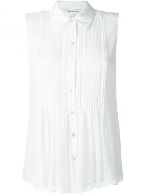 Рубашка без рукавов Diane Von Furstenberg. Цвет: белый