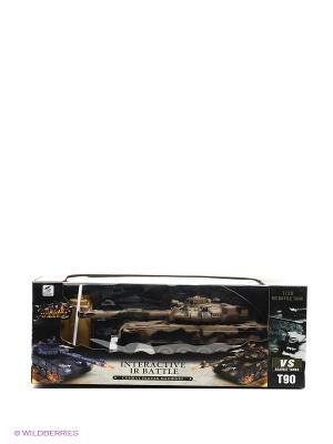 Танк р/у 1:28 с функцией стрельба из пушки зарядным устройством Tian Du. Цвет: черный, коричневый