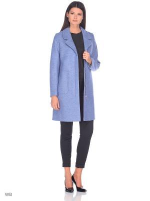 Пальто Socrat. Цвет: светло-голубой, светло-серый