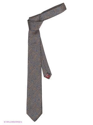 Галстук MONDIGO. Цвет: темно-синий, коричневый