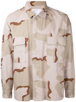 Рубашка с камуфляжным принтом monkey time. Цвет: телесный