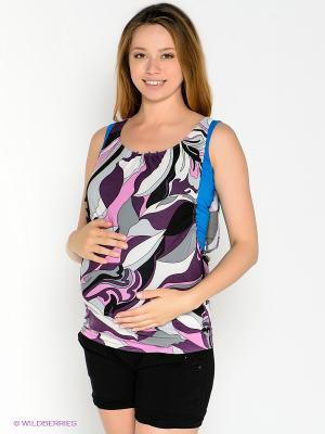 Топ для беременных 40 недель. Цвет: сиреневый
