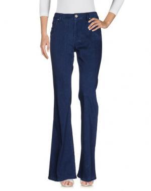 Джинсовые брюки DON'T CRY. Цвет: синий
