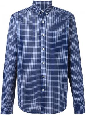Рубашка в клетку Ami Alexandre Mattiussi. Цвет: синий