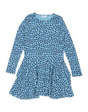 Платье MINI RODINI. Цвет: небесно-голубой