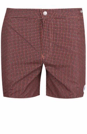 Плавки-шорты с принтом Robinson Les Bains. Цвет: красный