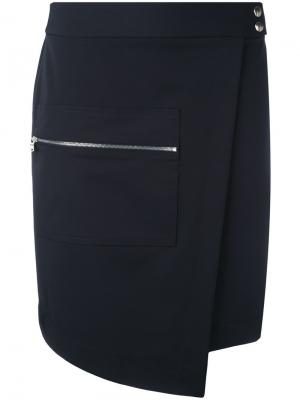 Asymmetric skirt Nomia. Цвет: синий