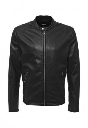 Куртка кожаная Burton Menswear London. Цвет: черный